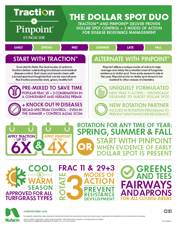 Traction & Pinpoint Dollar Spot Infographic
