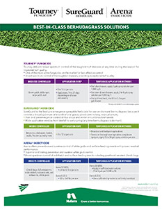 Nufarm Arena Bermudagrass Solutions Fact Sheet